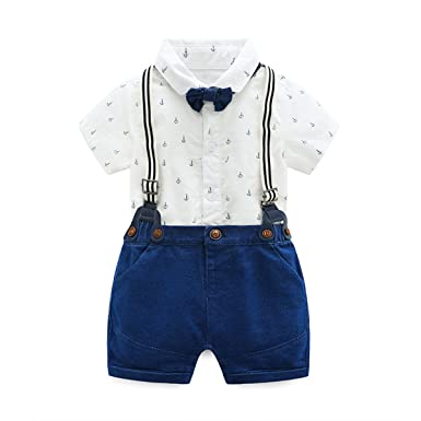 d910003d9a6b Amazon.com  Baby Boys Gentleman Outfits Suits
