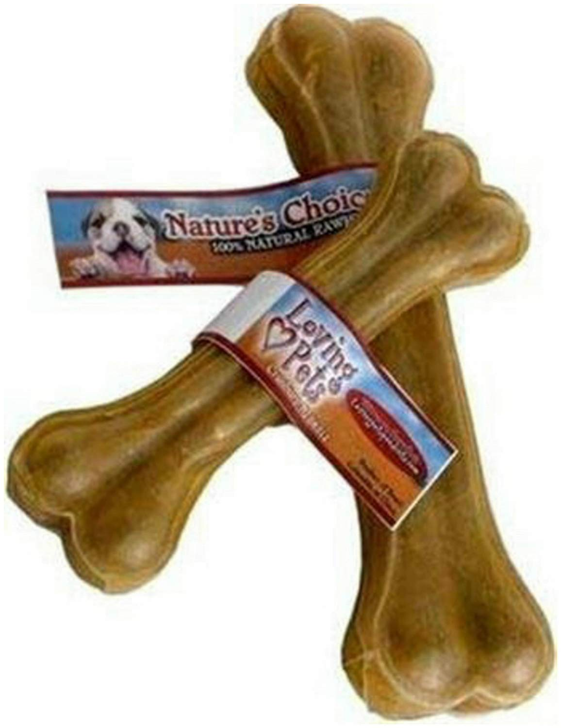 Loving Pets Nature's Choice Rawhide Pressed Bone Dog Chews, 12 Inch, 5 Pack by Loving Pets