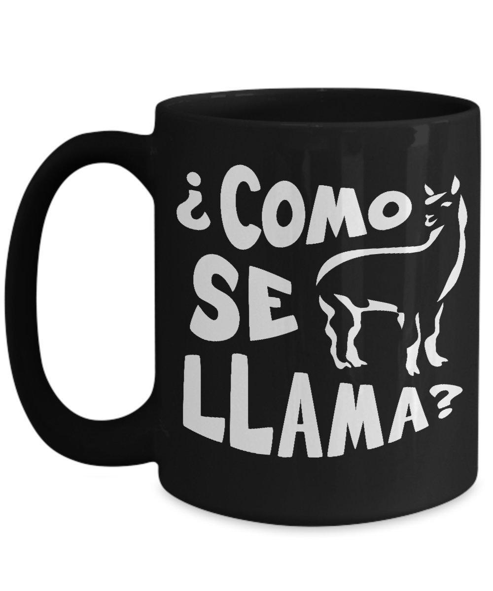【楽天最安値に挑戦】 Como Se Cup Llama BonitaスペインホームオフィスコーヒーMug Cup 15oz ブラック Como 15oz 15oz ブラック B06XRKB52N, ベルセーブ:c0bc100b --- movellplanejado.com.br