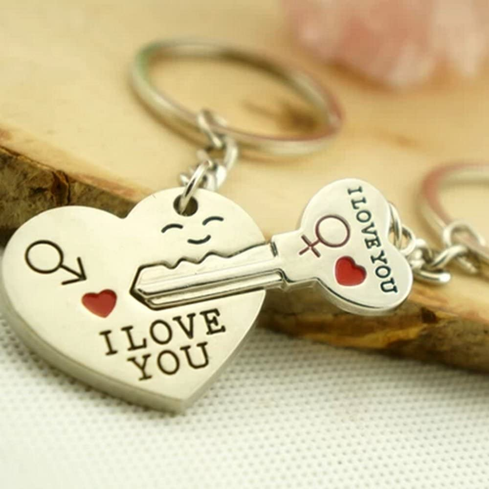 Beyondfashion Porte-cl/és pour couple Fl/èche et coeur I love you