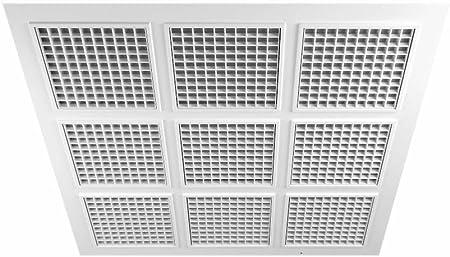Awenta Panneau carr/é avec grille d/'a/ération pour plafond 595/mm x 595/mm