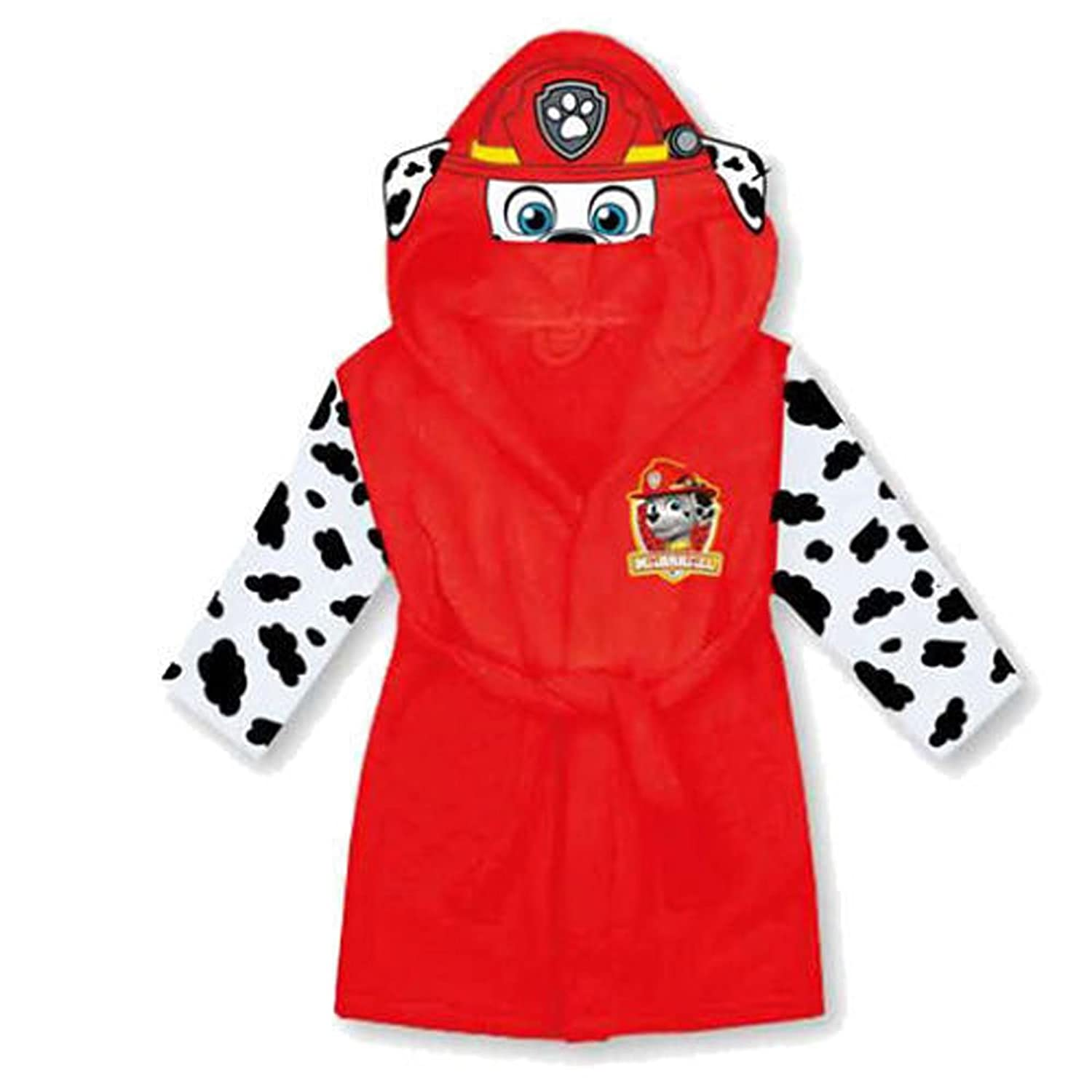 Nick Jr Paw Patrol Red Fleece Marshall Dressing Gown 2-3: Amazon.co ...