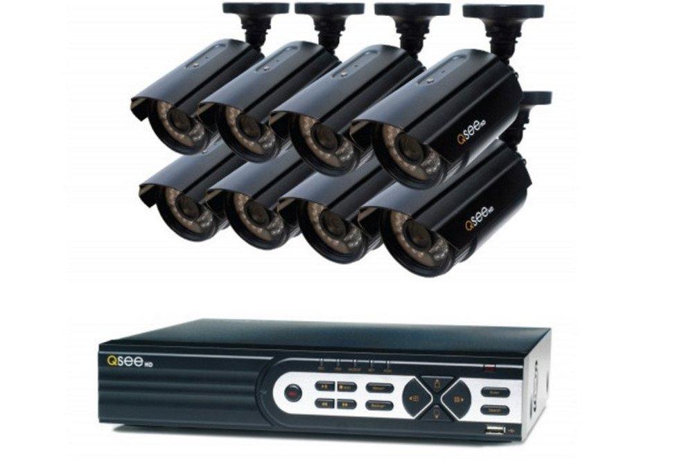 キューシー(Q-see) 防犯監視カメラ ブラック 8カメラ QTH82 HDD2TB 1080p full HD B01EEP5N76