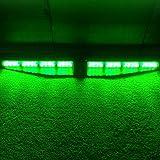 VSLED Car Truck Emergency Beacon Light Bar 2-16 LED 96 Watt Exclusive Split Visor Deck Dash Hazard Strobe Warning LightBar Green