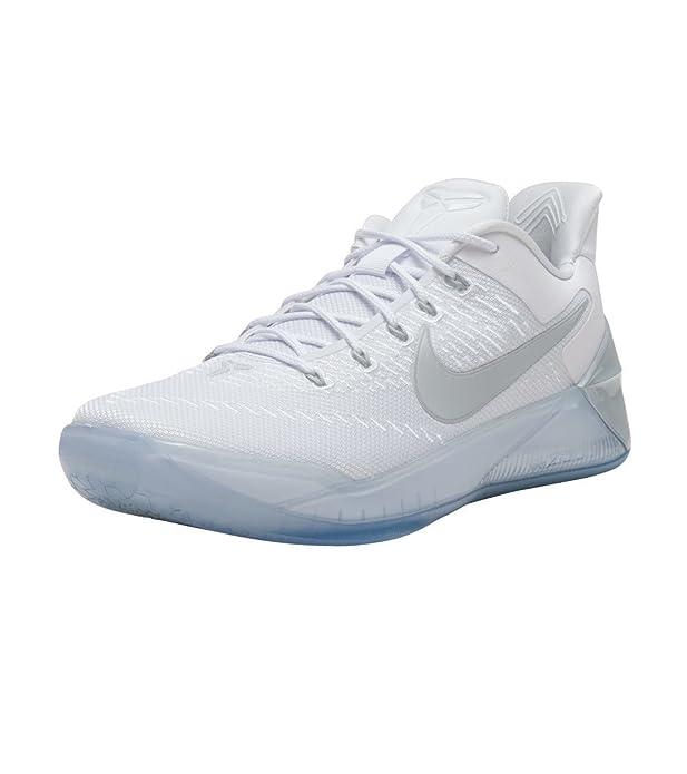 Nike Kobe A.D Zapatillas de Baloncesto para Hombre 852425 Zapatillas - Blanco/Cromo, UK 12 EU 47.5: Amazon.es: Zapatos y complementos