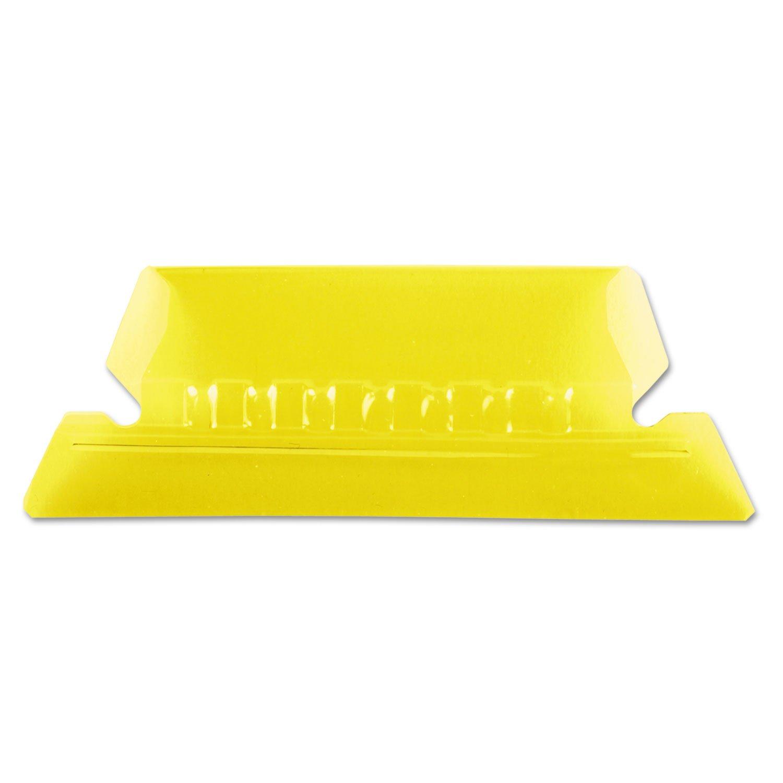 Pendaflex 42YEL Hanging File Folder Tabs, 1/5 Tab, Two Inch, Yellow Tab/White Insert, 25/Pack