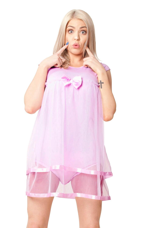 ABDL Supply Pink Tutu Adult Baby Onesie