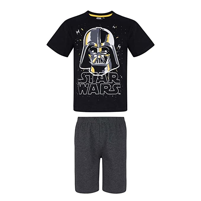 Star Wars Chicos Pijama Mangas Cortas - Negro: Amazon.es: Ropa y accesorios