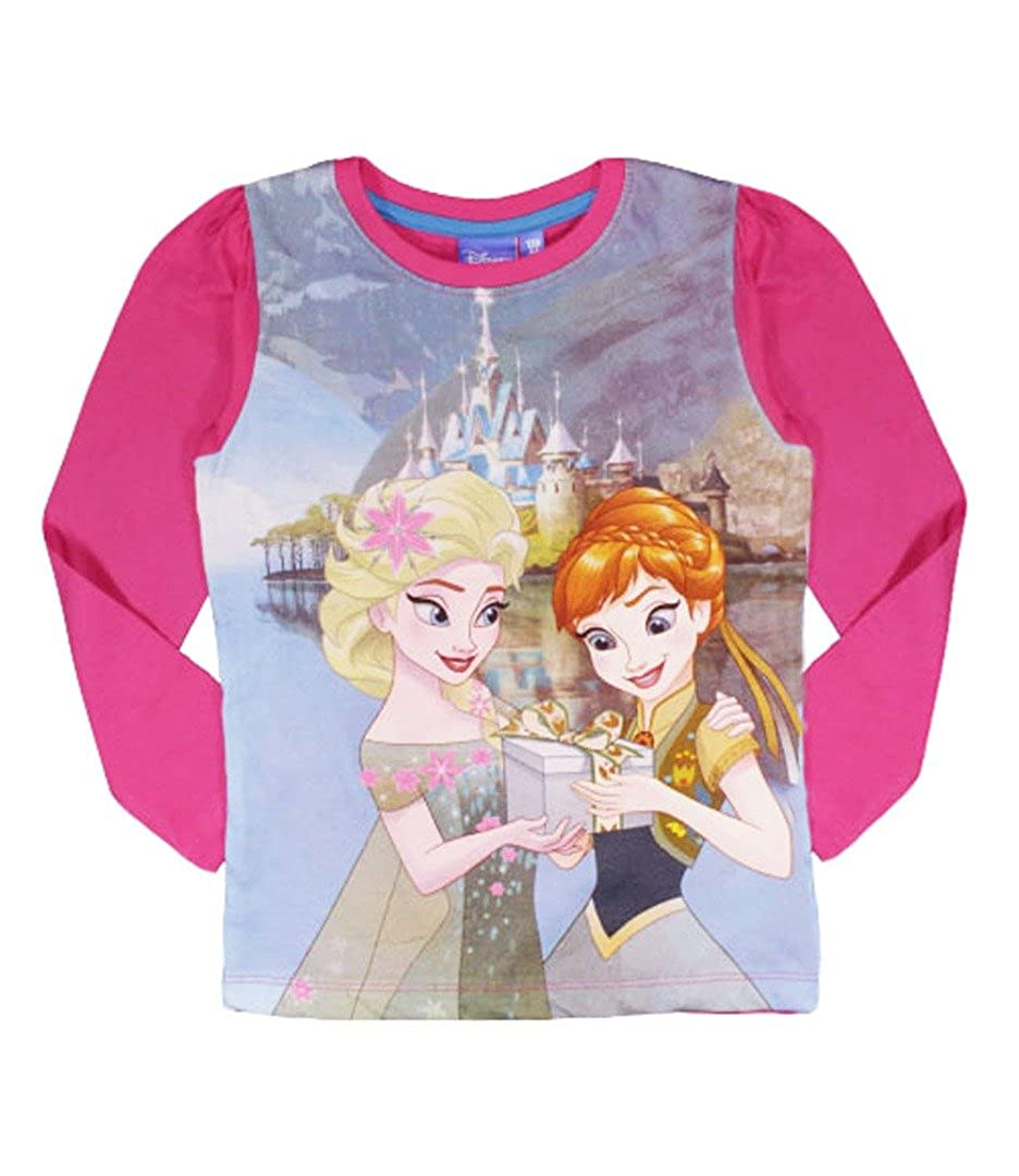 Disney Frozen Anna Elsa T-Shirt Fuchsia W5FR4467TSFA
