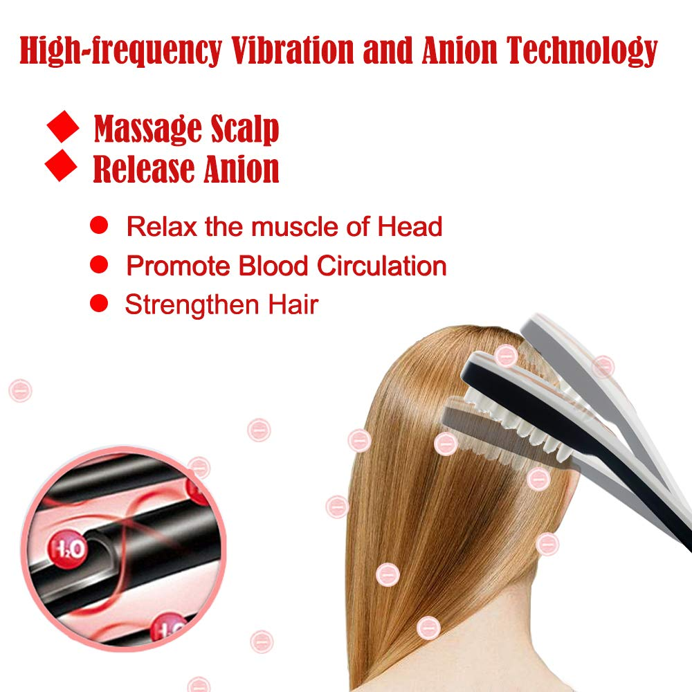 3-IN-1 Phototherapy Scalp Massager Comb for Hair Growth, Anti Hair Loss Head Care Electric Massage Comb Brush with USB Rechargeable, Gift for Women/Men/Friends by Yeamon (Image #5)