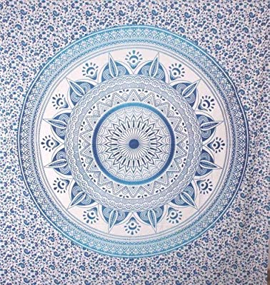 Craft works King Size Indian Mandala Tapestry Blue | Wall