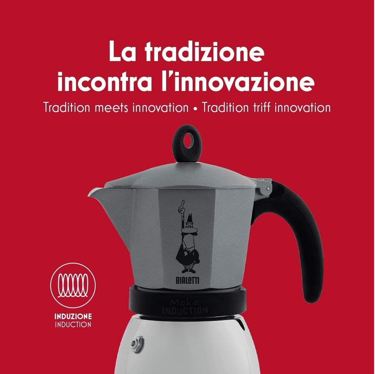 Bialetti Moka Induction Cafetera Italiana Espreso por Inducción, Aluminio, Negro, 6 Tazas: Amazon.es: Hogar