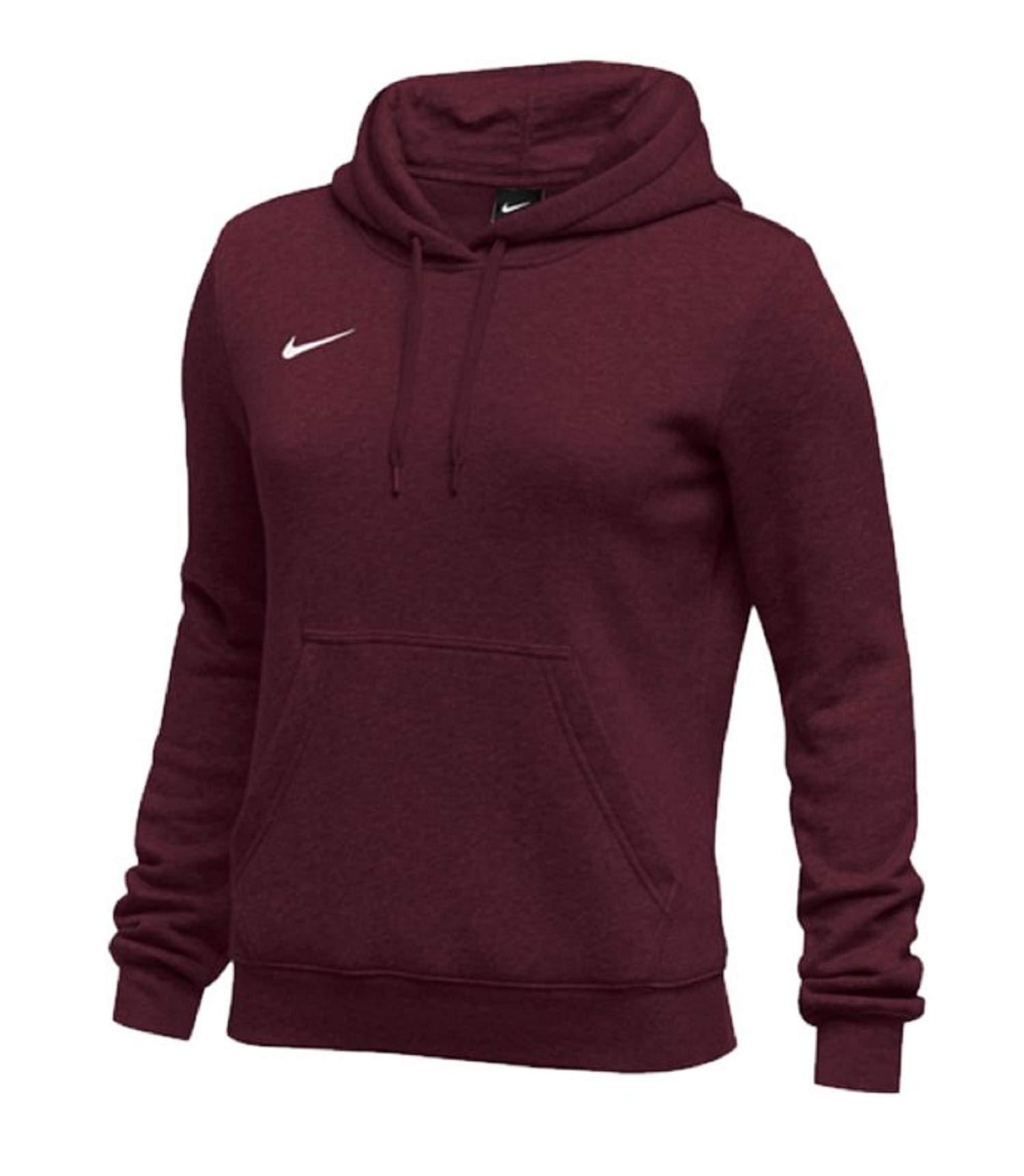 Nike Womens Pullover Club Fleece Hoodie (Small, Maroon) by Nike