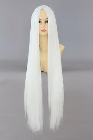 blanc longue perruque perruque cosplay 10