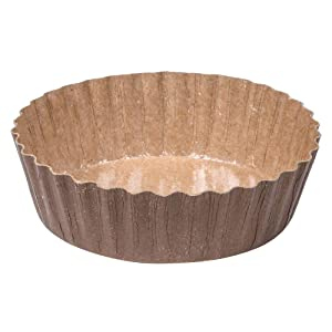 SOLUT! 91068 Fluted Wall Round Baking Cup, 5.7 oz. Capacity, 4