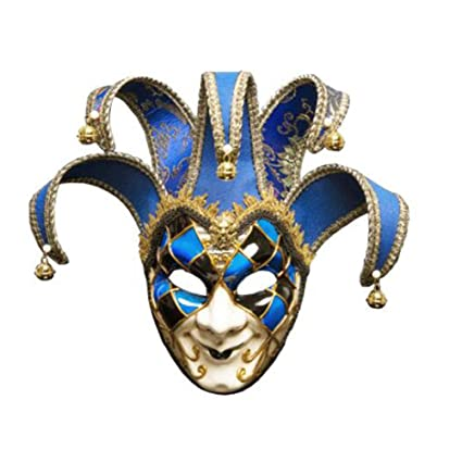 ZHANGXLMM Fiesta De Halloween Máscara De Navidad Mascarada Italia Venecia Cara Completa Máscara De Rey Anticuario