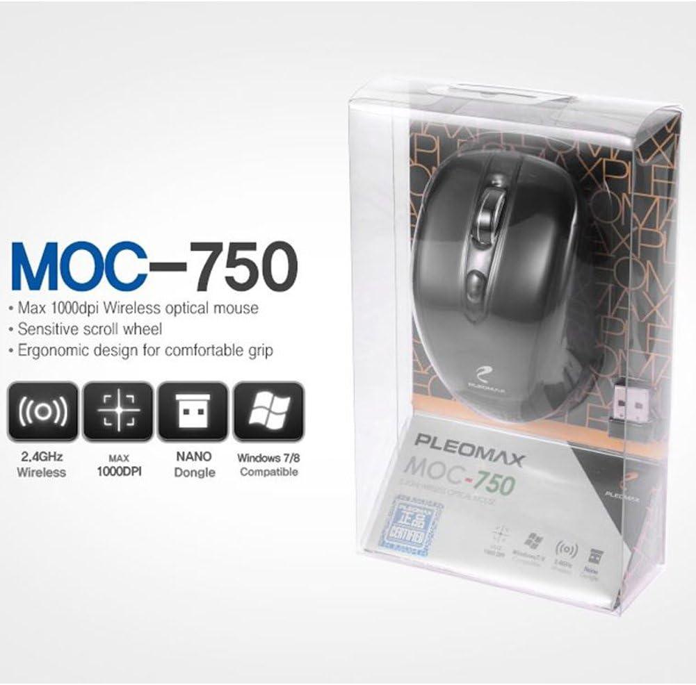 Pleomax Wireless Mouse MOC-750 Black 1000dpi Nano Dongle
