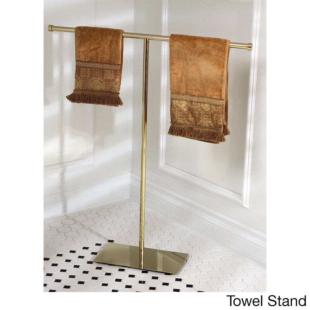 Kingston Brass Modern Polished Brass Freestanding Bathroom Accessories Towel Stand KB