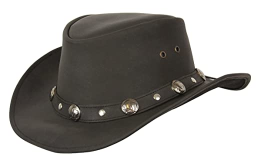 c3a7185a Conner Hats Men's Buffalo Nickel Leather Hat at Amazon Men's Clothing store: