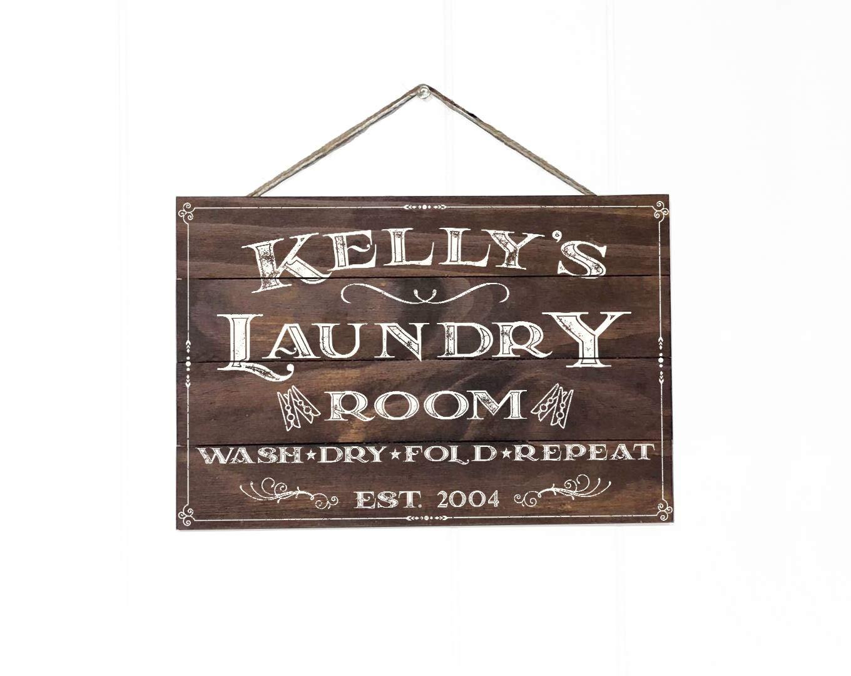 Artblox - Cartel de lavandería Vintage rústico, 8 x 12 cm ...