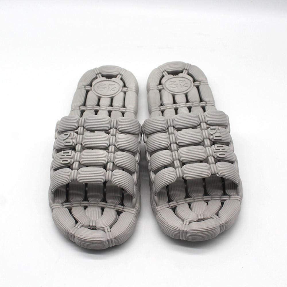Northerncold Zapatillas de Masaje para pies, Sandalias y Pantuflas de Suela Gruesa para Interiores con Fugas en el Interior, Sandalias con Orificios de Ducha en el baño, Gray_42-43, Slip On Slide: Amazon.es: