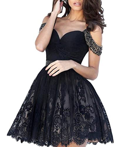 ACB 2016 Short Homecoming Dresses Lace Evening Gowns 030