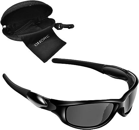 OMORC Gafas de Sol Deportivo Hombres y Mujeres, Gafas Polarizadas ...