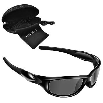 OMORC Gafas de Sol Deportivo Hombres y Mujeres, Gafas Polarizadas Ideal para Ciclismo, Conducción