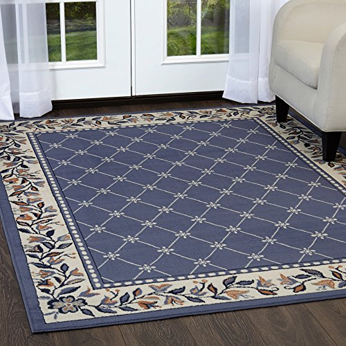 Home Dynamix 7015-310 Premium Aydin Traditional Area Rug, 8x10, Blue