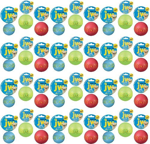 JW iSqueak Rubber Ball Medium 36pk by JW