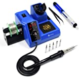 TOAUTO Soldering Station,80W Digital Solder Iron Station Kit with 176°F-896°F Temperature, C/F Func, Auto Standby…