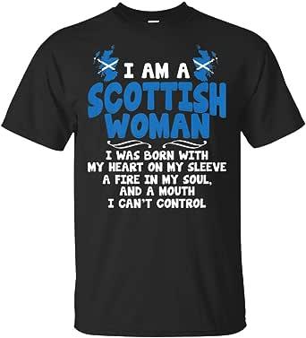 LeetGroupAU I Am A Scottish Woman Funny Scotland Gift T-Shirt