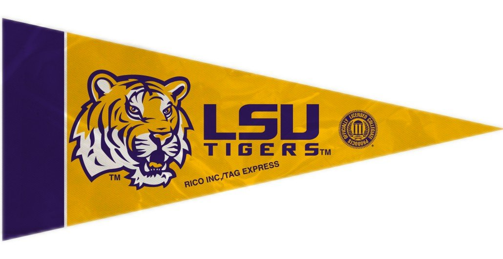 Rico NCAA LSU Lsu 8 Pc Mini Pennant Pack Sports Fan Home Decor, Multicolor, One Size