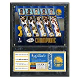 NBA Golden State Warriors 2017 Champions Composite Plaque with Metal Plate, 12'' x 15'', Multicolor