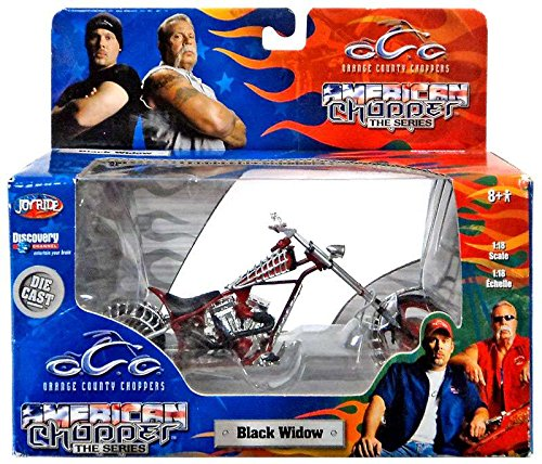 ERTL / Joy Ride - Orange County Choppers - American Chopper The Series - Black Widow - 1:18 Scale - Die Cast Metal - 1of 9 in Series - New - MIB - Limited Edition - Collectible (Ertl Orange County Choppers)