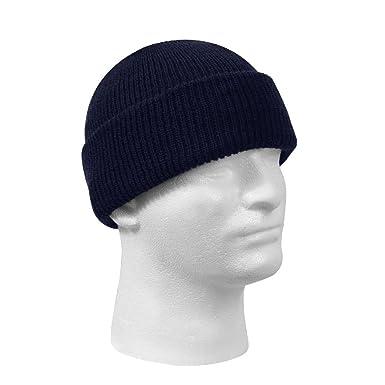 Amazon.com  Military 100% Wool Watch Cap Warm Winter Beanie Hat ... 220c9ae7e24