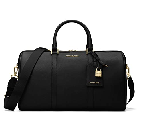 Michael Kors Jet Set Travel Large Leather Weekender - Black