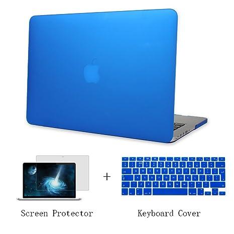Batianda Plástico Funda Dura Carcasa para MacBook Air 11 pulgadas & Cubierta del Teclado & Protector de Pantalla,Azul Oscuro