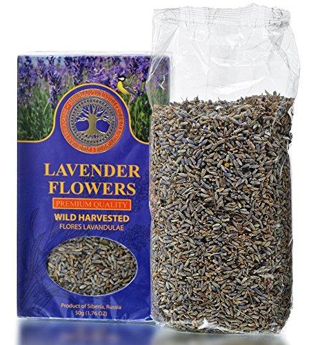 Wild Harvested Siberian Lavender Flowers, Premium Quality, 1.76 OZ (50 Grams) - Herbal Tea (Flores Lavandulae) -