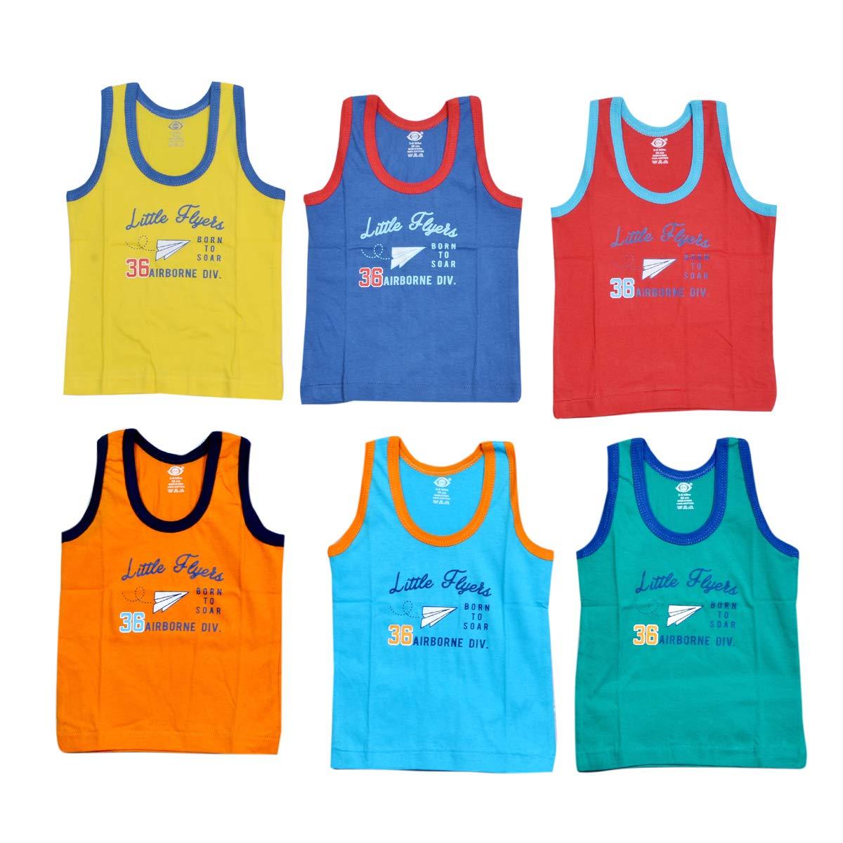 42d54bca46 GURU KRIPA BABY PRODUCTS ® Products Presents Born Baby Kids Inner Wear  Baniyan Unisex Printed Cotton