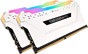 Corsair Vengeance RGB PRO 32GB (2x16GB) DDR4 3200 (PC4-25600) C16 Desktop Memory - White