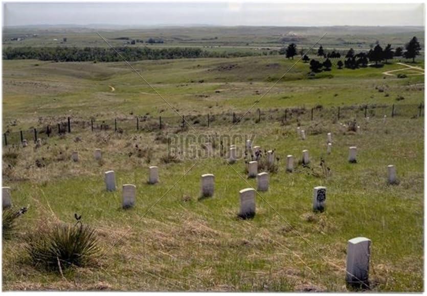 CafePress – Custer campo de batalla cementerio rectangular imán ...