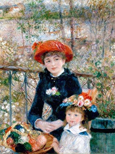 Painting Portrait Exterior Renoir Two Sisters Terrace Poster Art Print