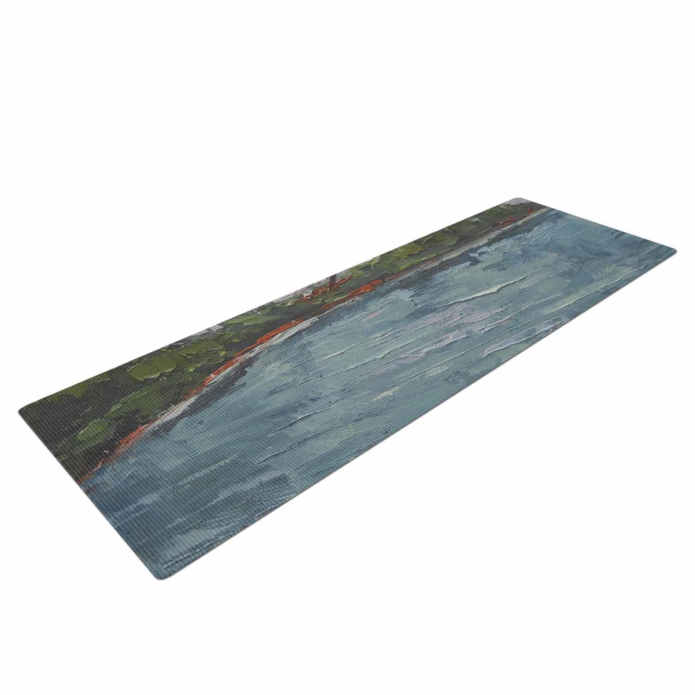 CS1034AYM01 72 X 24 72 X 24 KESS Global Inc KESS InHouse Carol Schiff Blue Lagoon Aqua Green Yoga Mat