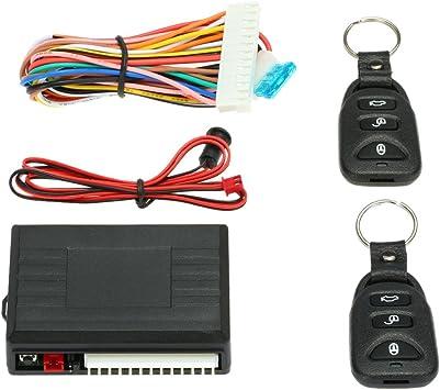 Kkmoon Universal Car Door Lock Keyless Entry System Central Locking Remote Control Kit With 2 Flip Keys Auto
