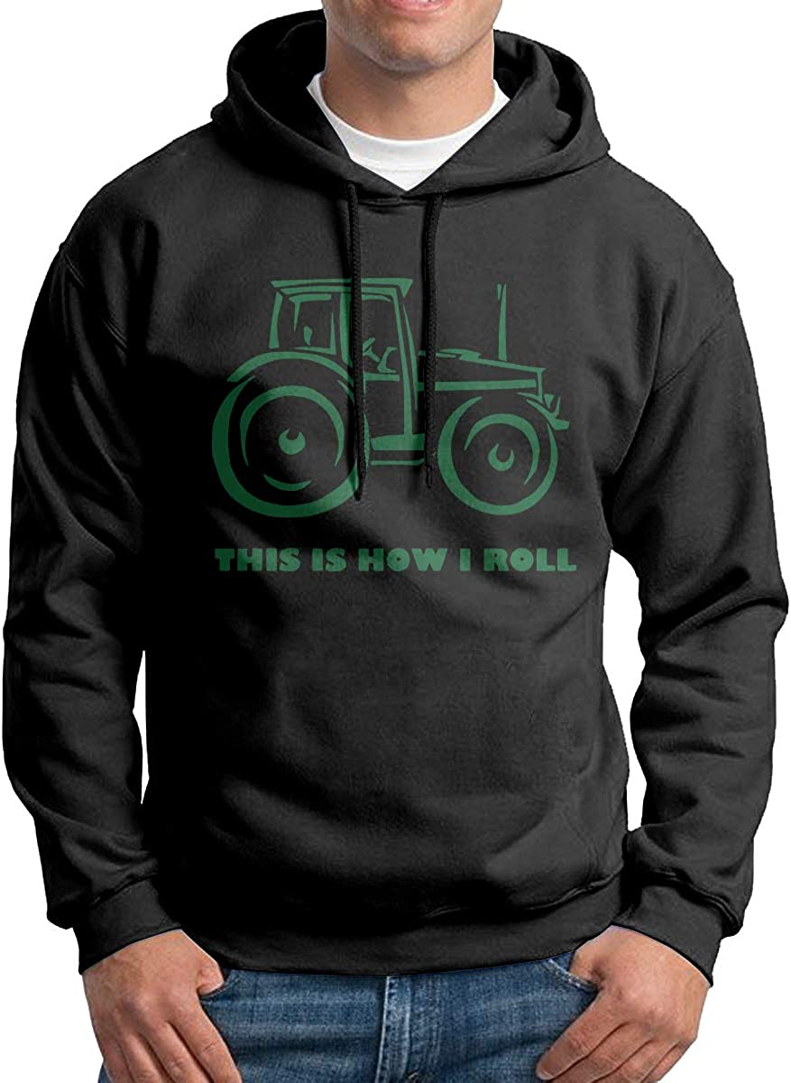 NWYYZDD Boys This is How I Roll Farming Farmer Patterns Print Athletic Pullover Hood Fashion Sweatshirts
