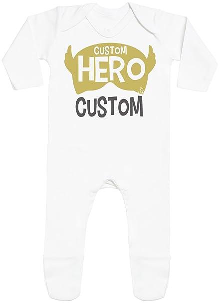 Personalizados bebé Hero Custom with Feet - peleles personalizados para bebé - regalos personalizados para bebé: Amazon.es: Ropa y accesorios