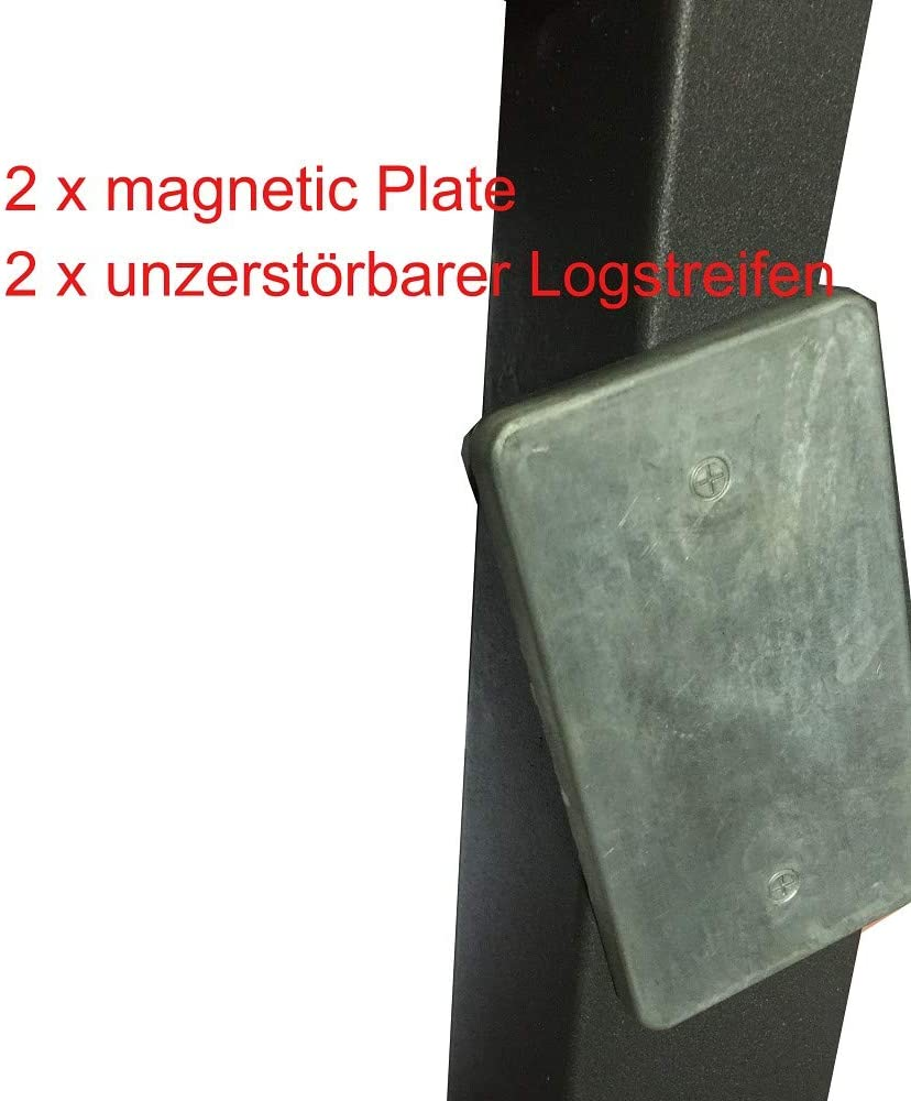 geo-versand 1 x Geocaching Versteck magnetisch D5 Metall Platte Magnetic Plate Geocache Abde