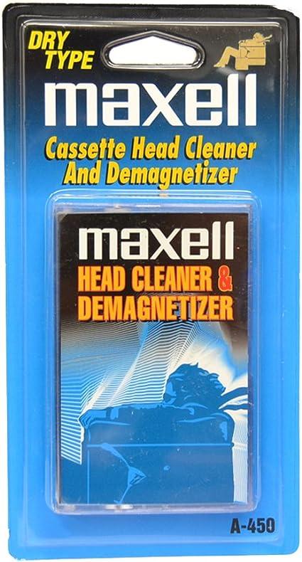 Maxell A-450 - Limpiador de casetes magnéticas (no abrasivo) color azul: Amazon.es: Electrónica