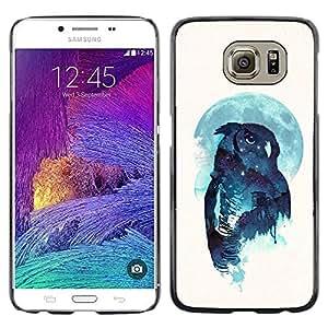 Caucho caso de Shell duro de la cubierta de accesorios de protección BY RAYDREAMMM - Samsung Galaxy S6 - Noctámbulo